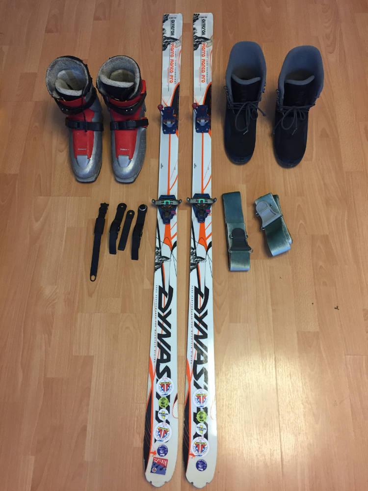 Prodám kompletní skialp set lyže+vázání+pásy+lyžáky(nové botičky ... bb5128e4687